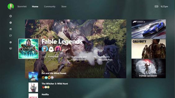 Dette er synet som vil møte deg når du slår på Xbox One seinare i år.