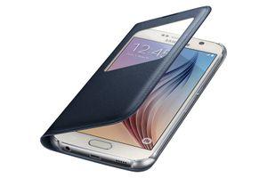 Samsungs egne S View-deksler er tynnere og stiligere å se på – og beskytter skjermen. Men dekselet gir neppe like god beskyttelse mot fall som Otterbox-dekselet.
