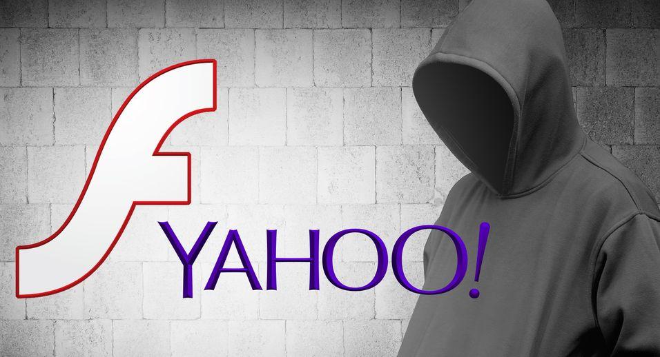 I en ukes tid spredte Yahoos nettsteder ondsinnet kode gjennom Flash-annonser.