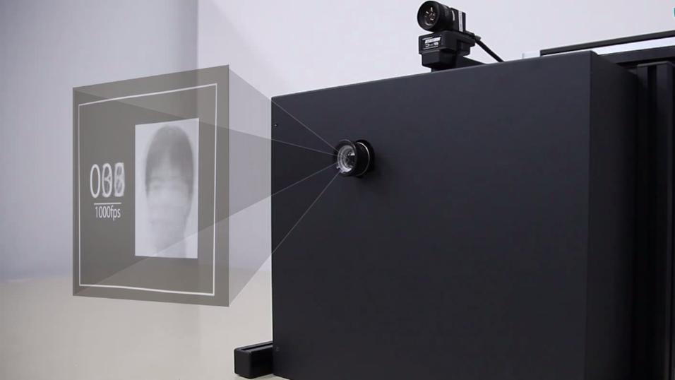 Denne projektoren kan vise 1000 bilder per sekund.