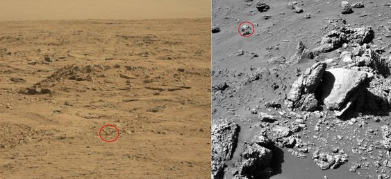 Bevis på at det har bodd folk på Mars, eller bare steiner?