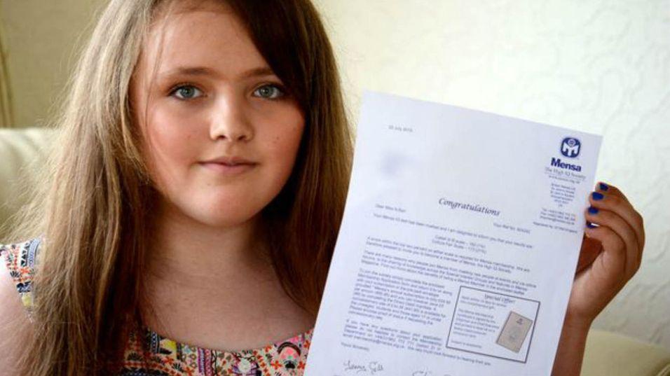 Nicole (12) er «smartere enn Einstein»