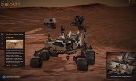Mye av bildematerialet er hentet inn av Mars-roveren Curiosity, som også har fått sitt eget utforskningsverktøy.
