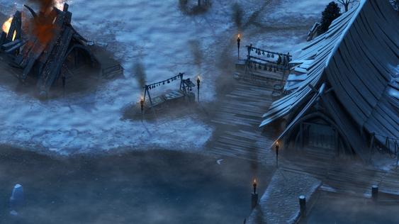 Landsbyen Stalwart, som er utgangspunktet for dine eventyr i White March-fjellene.