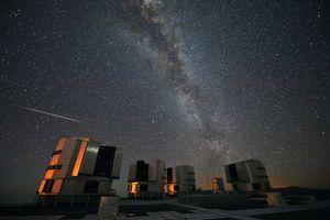 Perseidene er synligst på den nordlige halvkulen, men dette bildet er tatt ved ESOs Very Large Telescope i Chile, i 2010.