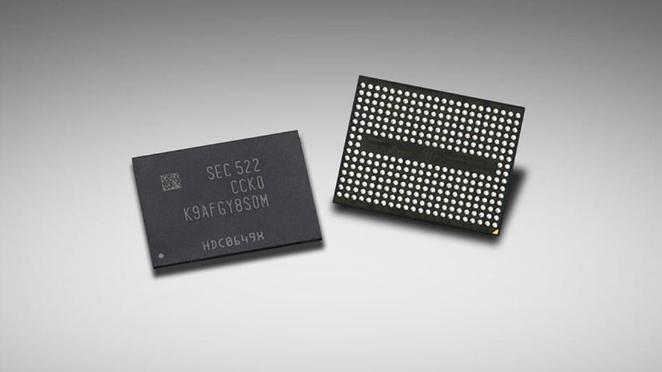 De nye V-NAND-brikkene til Samsung.