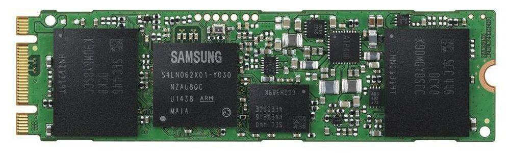 En M.2-SSD fra Samsung med både B- og M-nøkkel.