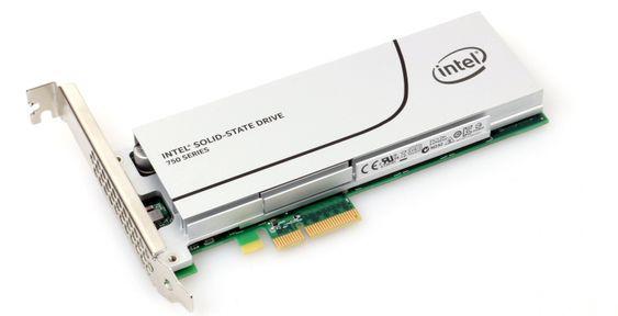 En PCIe-SSD fra Intel.