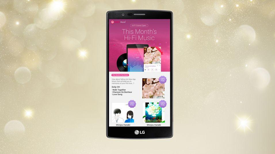 LG lanserer ny musikktjeneste.