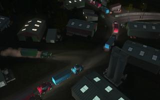 Lastebilene utnytter den forminskede trafikken.