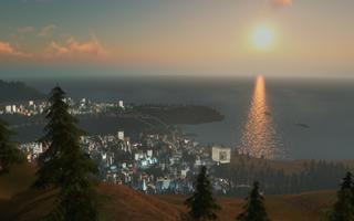 Det forventes masse vakre bilder av byer i solnedgang.