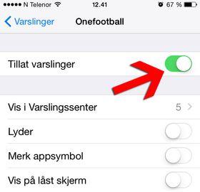 Skru av varsler på iPhone.