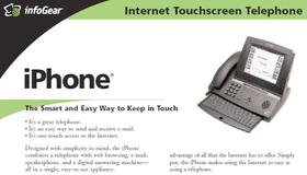 Dette er InfoGears reklame for verdens første «iPhone».