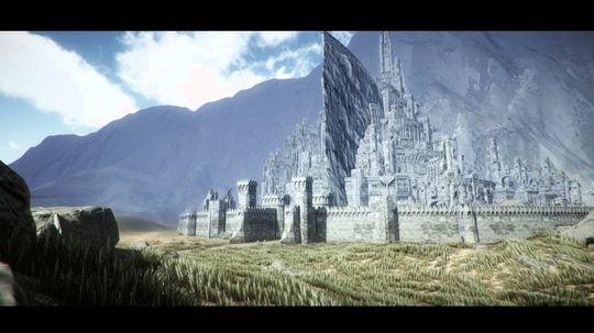 Det er ikke det enkleste prosjektet de har satt seg fore. Her en fan-tegning av byen, omtrent lik som den vi så i filmen.