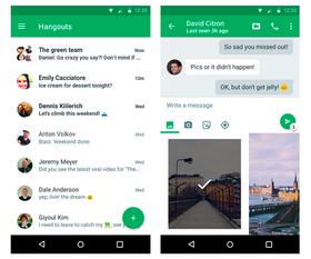 Google slapp også nylig en ny Hangouts-app til Android.