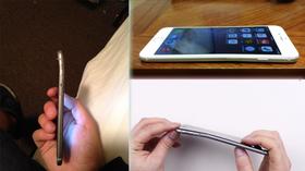 Slik så en rekke iPhone 6 ut etter kort tids bruk. «Bendgate» var et faktum.