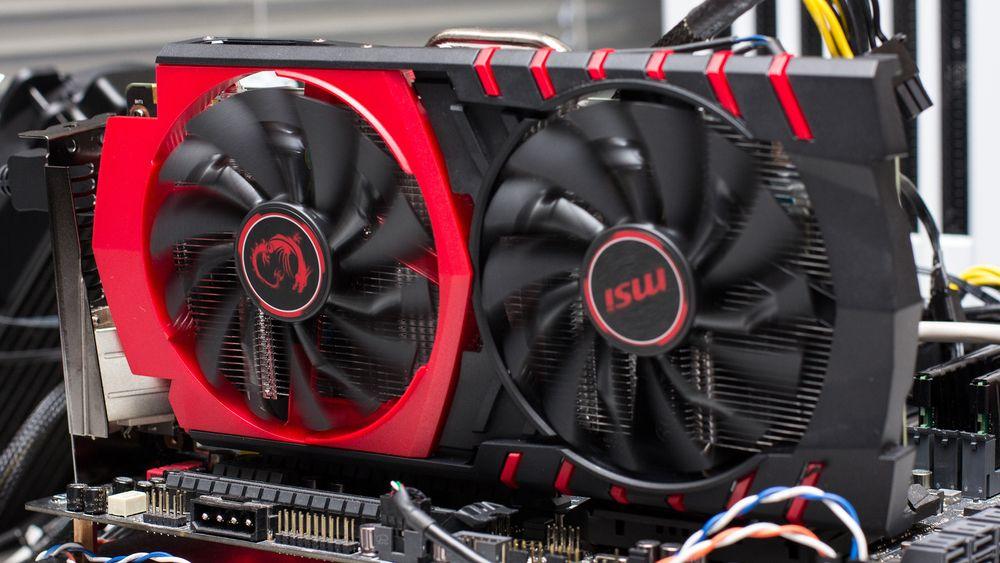 MSI GeForce GTX 950 «Gaming» har TwinFrozr V- spesialkjøler og er noe overklokket fra fabrikk.