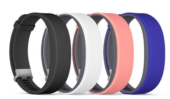 SmartBand 2 kommer i fire ulike farger, men bare svart eller hvitt i første omgang.