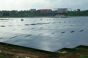 Anlegget består av 46 150 solcellepaneler.