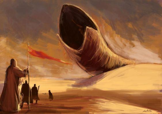 Sandplaneten Arrakis er full av enorme sandormer som kan sluke det meste.