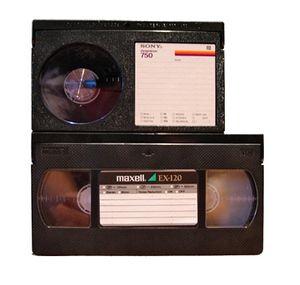 Betamax og VHS.