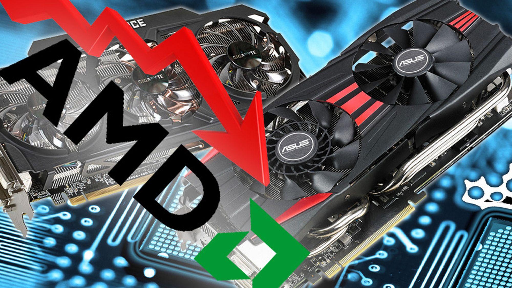 AMDs markedsandeler er i fritt fall.