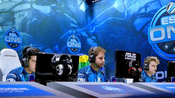 Luminosity Gaming under lørdagens kamp mot Fnatic.