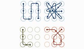 Slik komplekse, utradisjonelle mønstre gjør det vanskeligere å gjette seg frem til koden din.
