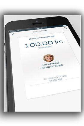 Med MobilePay kan du også for eksempel overføre penger til venner, som DNBs mobiltjeneste Vipps.