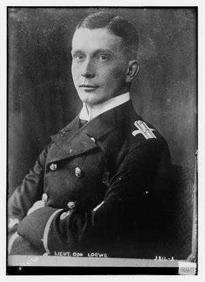 Kapitänleutnant Odo Loewe sendte ut flaskepost fra zeppelineren L-19, før den havarerte og alle ombord døde.