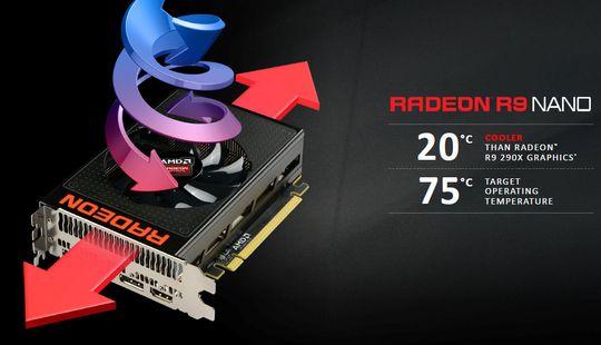 R9 Nano skal være kjøligere under last enn tidligere AMD-kort.