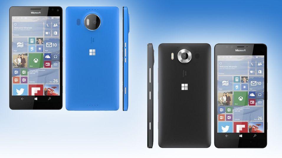 Dette skal ifølge @evleaks være Microsofts nye topptelefoner i Lumia-serien.