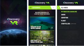 DiscoveryVR kan lastes ned som egen app til Android og iOS.