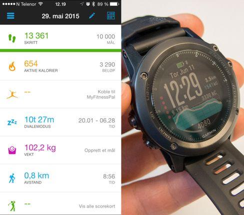 Garmin Fenix 3 er en diger og robust klokke. Det hører til app, og en av dens sterke sider er at denholder i rundt to uker på en lading.