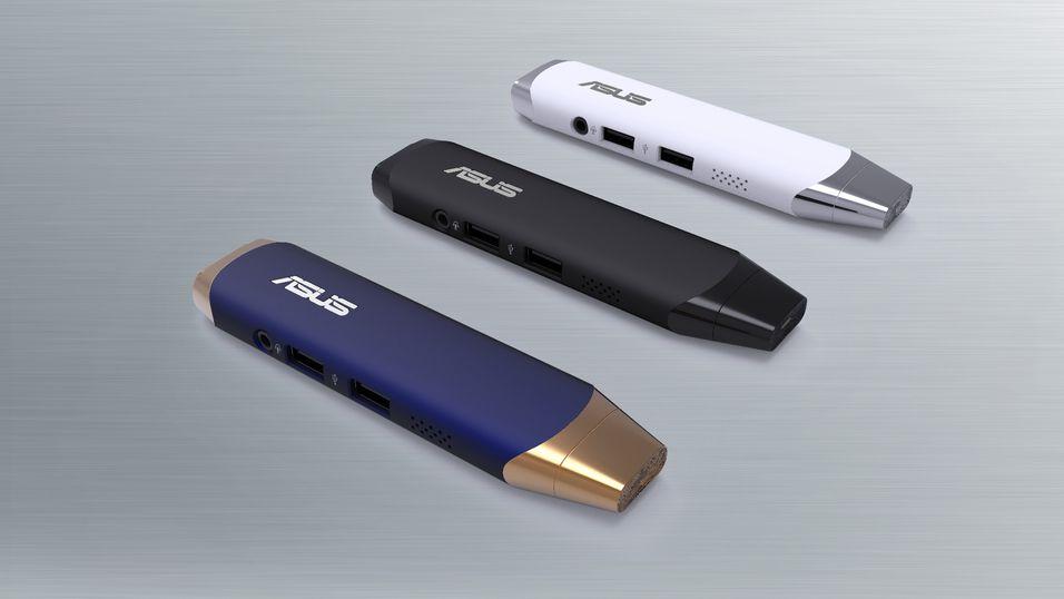Asus VivoStick kommer i tre ulike farger.