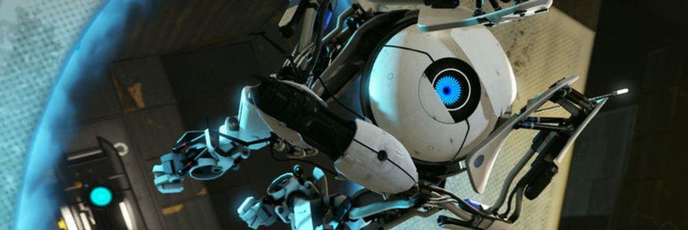 Portal er ett av spillene undertegnede har hatt det mest gøy med de siste årene. Her er en av robotene fra spillet.