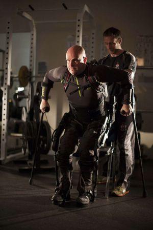 Mark Pollock og treneren hans.