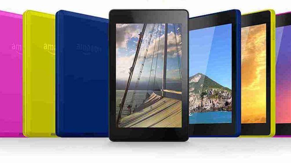 Det nye nettbrettet får samme størrelse som Kindle Fire HD 6, her avbildet.