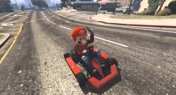 Se Mario Kart bli en smule mer grusomt i Grand Theft Auto V-byen