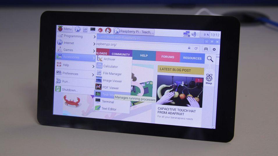 Den første offisielle berøringsskjermen til Raspberry Pi.