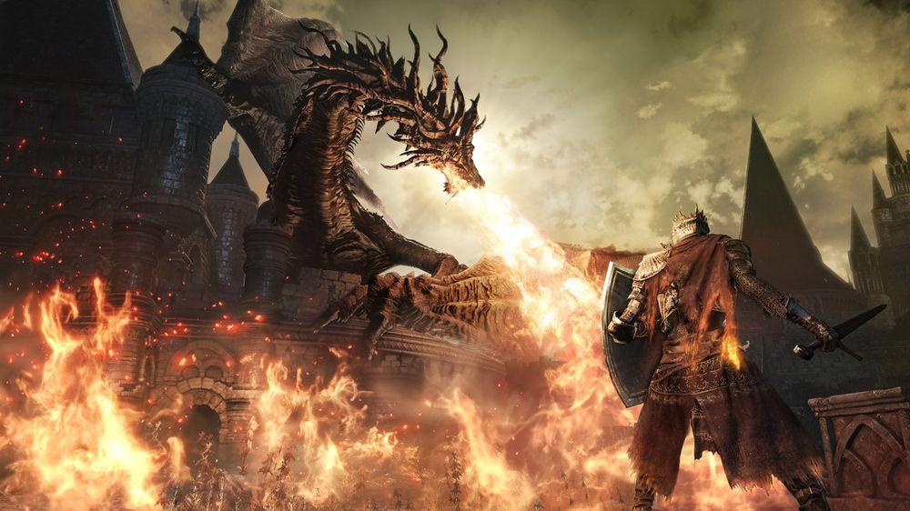 Det er ikke Dark Souls uten en ildsprutende drage.