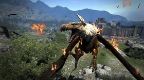 Den majestetiske griffen er berre eitt av mange fabeldyre du kan ta knekken på i Dragon's Dogma.