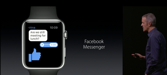 Facebook Messenger kommer til Apple Watch.