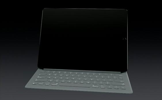 Deksel med innebygd tastatur.