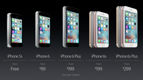 Slik ser den nye iPhone-familien ut.