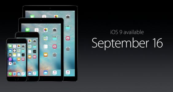 iOS 9 er rett rundt hjørnet.