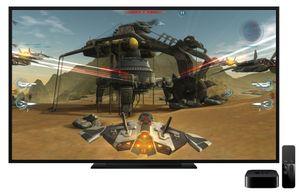Selv om Apple viste Apple TV ved siden av en TV, kan den også gjemmes helt bort.