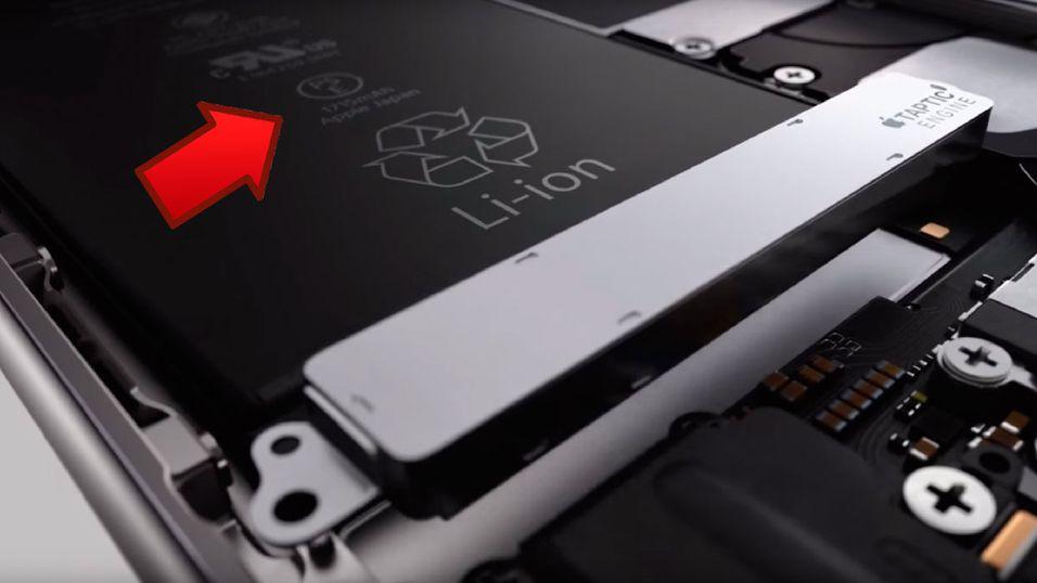 Den nye promovideoen avslører at batteriet i iPhone 6S er på 1715 mAh, sammenlignet med 1810 mAh i iPhone 6.