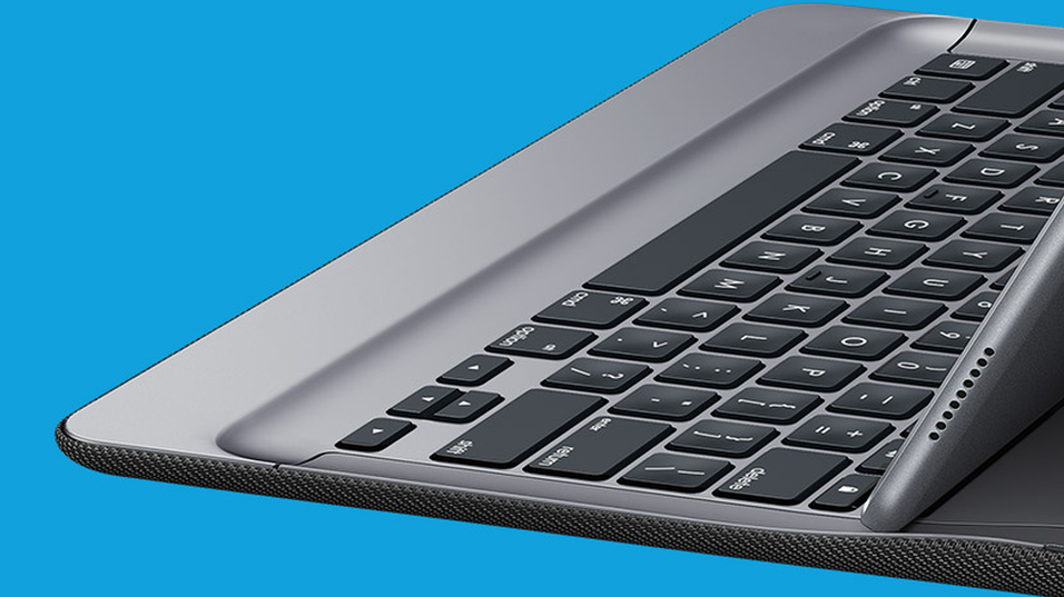 Dette er teaser-bildet av Logitechs nye iPad Pro-tastatur.