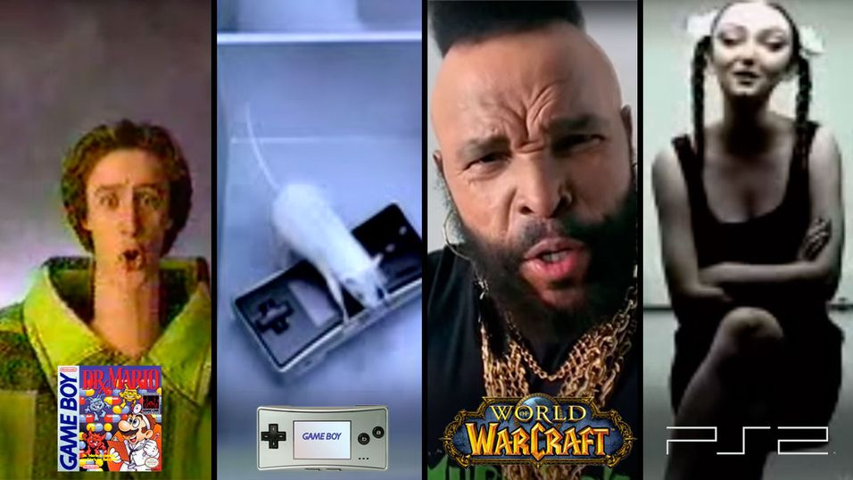 Disse sprø reklamefilmene ble faktisk brukt til å promotere spill